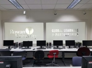 Frosted Vinyl Window Graphics South Jersey Rowan College at Burlington County