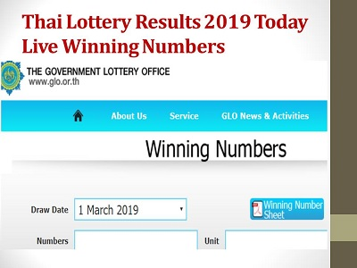 Today] Thailand Lottery Results 01-08-2019-(Available)|Thai Lottery