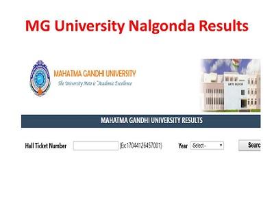 mguniversity in Results|MGU Nalgonda Degree Results 2019