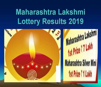 Maharashtra Lakshmi Lottery Results 2019 Saturday 27/07/19