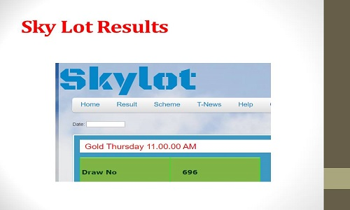Sky Lottery Result