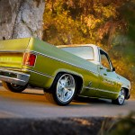 2 1973 Chevy C10 Pick Up Overhaulin A Team California Speed And Custom Patina Hot Rod Truck Street Rod Street Truck Supercharger Tci Ride Tech Hrbb Wheels Weiand Fuel Injection Flowmaster Speed Revolutions