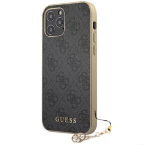 Guess 4G Charms Cover für Apple iPhone 12/12 Pro/12 Pro Max Grau