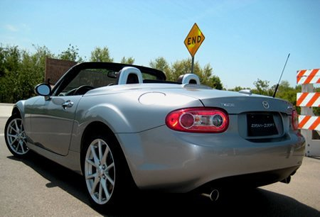 Top-down motoring is a blast in this MX-5, and the Power Retractable Hardtop opens and closes quickly and easily at the push (and hold) of a button.