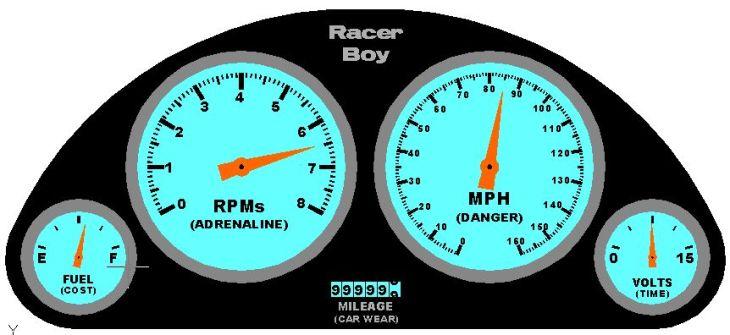 Racer Boy Gauge Demo Derby