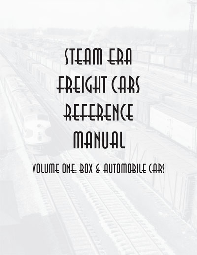 Sale on Steam Era Freight Car Reference Manuals