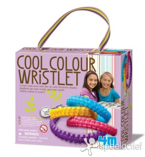 4M Crea Hobby-en Knutseldoos - Armbandjes Coole Kleuren maken