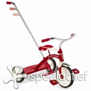 RadioFlyer classic red Tricycle met duwstang
