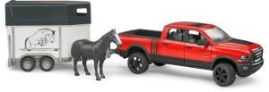Bruder 02501 Dodge RAM 2500 Power Wagon met paardentrailer en paard