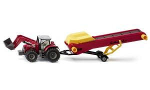 Siku 1996 Massey Ferguson tractor met transportband Schaal 1 : 50