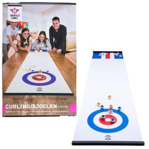 Curling/Sjoelen 2-in-1 Shuffleboard 180x39 cm.