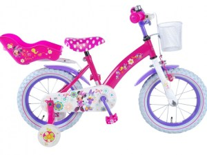 Minnie Mouse 14 inch kinderfiets roze/paars