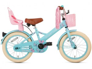 Little Miss 16 inch kinderfiets turquoise