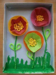 bloemen van cupcakepapier