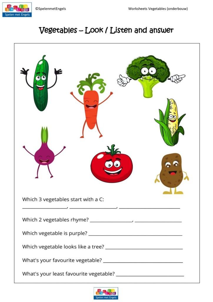 Worksheets Vegetables Onderbouw
