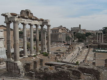 English: Temple of Saturn at Forum Romanum