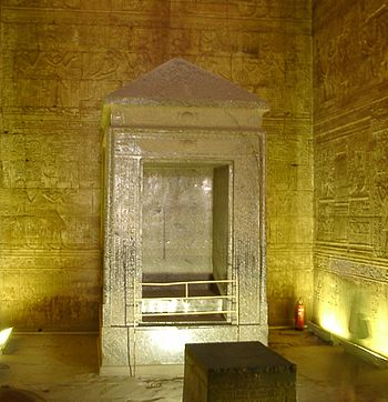 English: Naos of Horus Temple in Edfu, Egypt M...