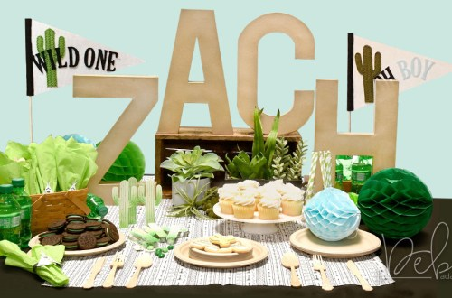 Creative DIY Party Decor Series | Unique and Trendy Cactus Baby Shower by Debi Adams for Spellbinders