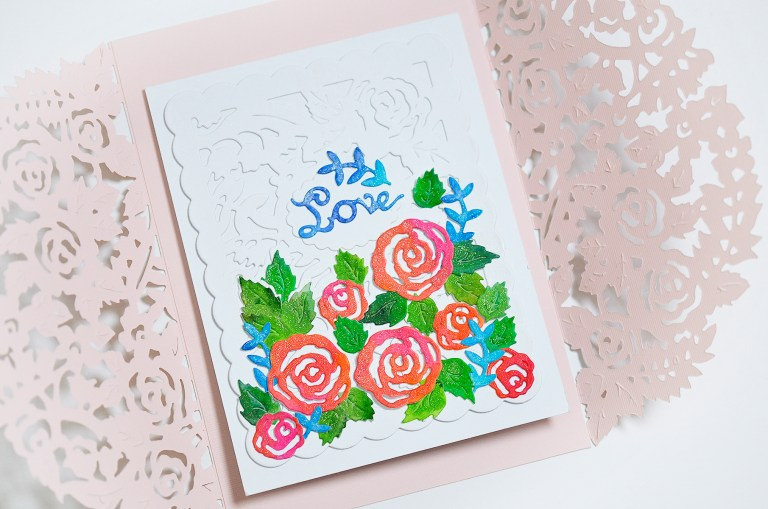 Flower Garden Collection by Sharyn Sowell Inspiration   Spring Garden Card with Mayline for Spellbinders using S4-846 Rose Bird Topiary, S4-847 Floral Panel Card, S4-850 Floral Photo Frame, S4-851 Dimensional Floral Panel, S5-334 Floral Gatefold #spellbinders #neverstopmaking #cardmaking #diecutting #handmadecard