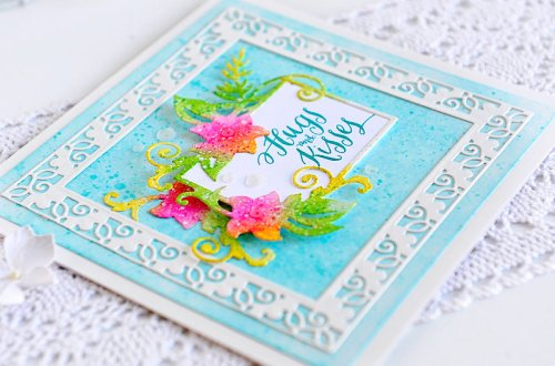 Large Die Of The Month Inspiration | Floral Lace Frame Die Set with Kay