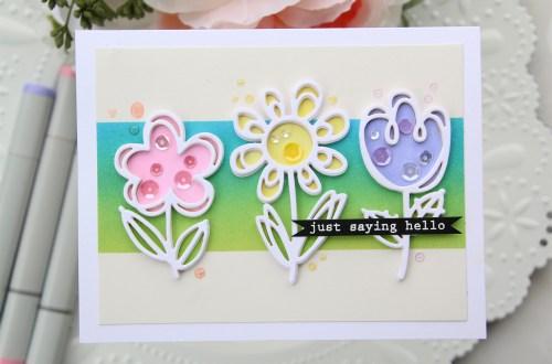 Die D-Lites Inspiration   Floral Card with Brenda Noelke for Spellbinders using S3-332 Sketched Blooms #spellbinders #cardmaking #handmadecard #diecutting