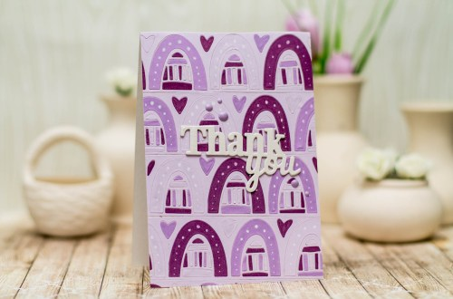 Wings of Love Collection by Joanne Fink - Inspiration | Simple Cards with Elena for Spellbinders using: S4-888 Words, S5-350 Borders, S4-564 Phrase Set Two. #spellbinders #cardmaking #diecutting #handmadecard