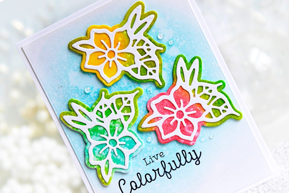 Good Vibes Only Collection by Stephanie Low - Inspiration | Butterfly & Floral Cards with Kay for Spellbinders using S2-294 Petal'd Poetry dies. #spellbinders #neverstopmaking #diecutting #handmadecard