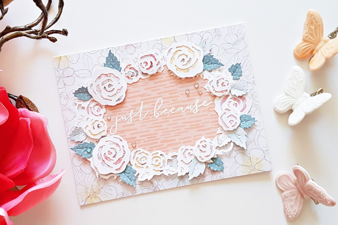 Flower Garden Collection by Sharyn Sowell - Inspiration | Soft Floral Cards with Zsoka for Spellbinders using: S2-285 Bird on Cherry Branch, S2-286 Botanical Butterfly, S4-851 Dimensional Floral Panel, S5-339 Tiny Shadow Box #cardmaking #diecutting #handmadecard #spellbinders
