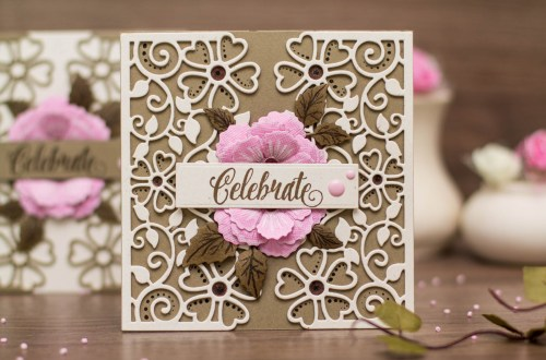 Blooming Garden Collection by Marisa Job - Inspiration | Blooming Cards by Elena Salo for Spellbinders using S4-916 Blooming Rose, S4-915 Top Floral Panel. #diecutting #handmadecard #spellbinders #neverstopmaking