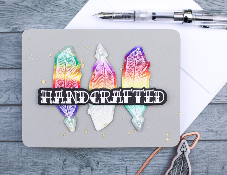 Spellbinders - Handmade Collection by Stephanie Low Inspiration   Handcrafted Rainbow Quills by Jenny Colacicco #spellbinders #stamping #cardmaking #handmadecard