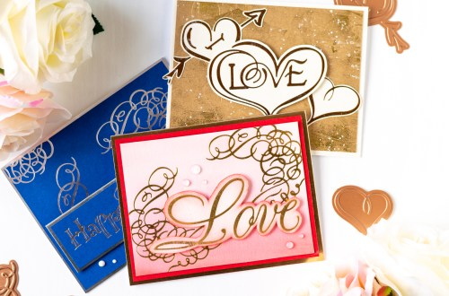 Paul Antonio Glimmer Plates Inspiration | Hot Foiling Techniques with Laura Volpes for Spellbinders