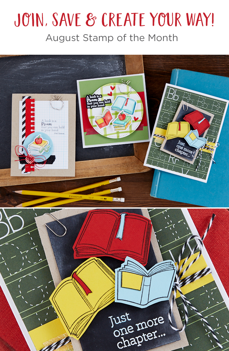 Fun Stampers Journey August 2019 Stamp of the Month is Here - Book Worm