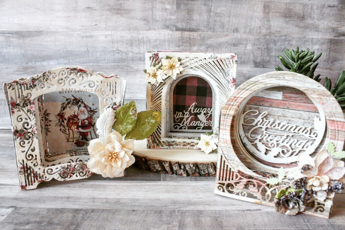 Spellbinders 3D Holiday Vignettes Collection by Becca Feeken - Inspiration | Christmas Decor by Mallika Kejriwal