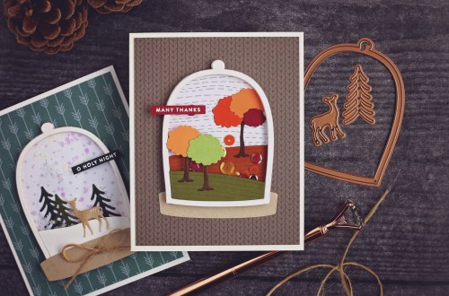 Easily Create Different Scenes with One Card Layout | Scenic Snapshots Collection | Handmade cards by Ashley Tucker for Spellbinders