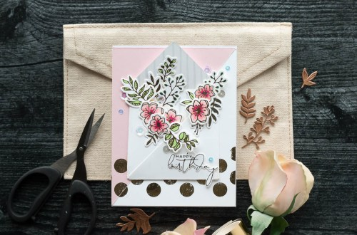 Spellbinders Foil Basics Collection by Yana Smakula - Inspiration | Envelope Bouquet with Marie Nicole