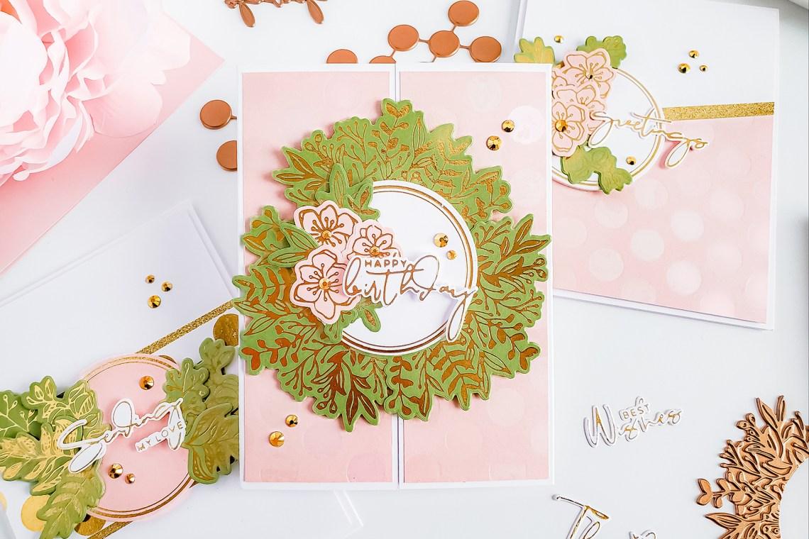 Spellbinders Yana's Foiled Basics Collection - Inspiration   Feminine Cards with Yasmin Diaz #YSFoiledBasics #GlimmerHotFoilSystem #Spellbinders #HotFoil #Cardmaking