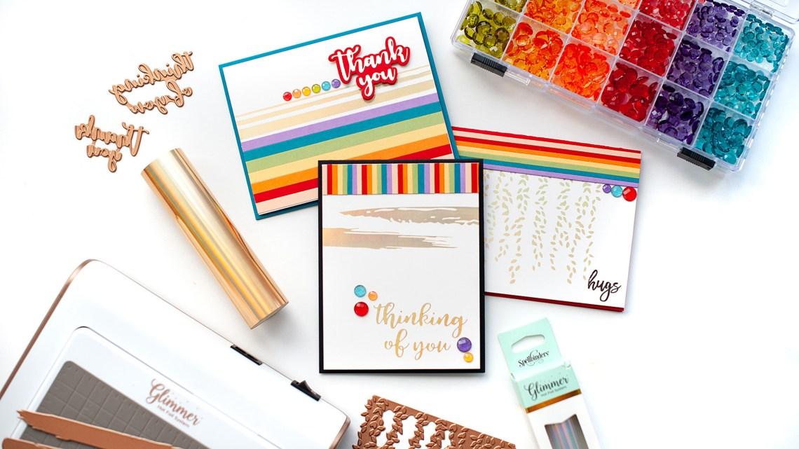 Spellbinders - The Effortless Greetings Project Kit | Inspiration with Lea Lawson | Video tutorial #Spellbinders #NeverStopMaking #GlimmerHotFoilSystem #Cardmaking