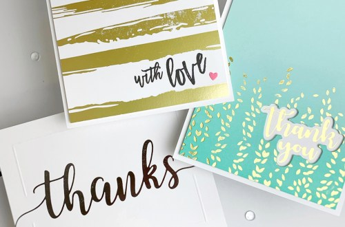 The Effortless Greetings Project Kit | Cardmaking Inspiration with Laurie Willison | Video tutorial #Spellbinders #NeverStopMaking #GlimmerHotFoilSystem #Cardmaking
