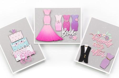 Spellbinders Wedding Season Collection by Nichol Spohr - Inspiration | Handmade Wedding Cards Ideas with Jennifer Bolton | Video tutorial #Spellbinders #NeverStopMaking #DieCutting #Cardmaking
