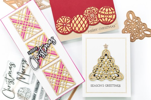 The Spellbinders Christmas Project Kit | Cardmaking Inspiration with Jennifer Bolton | Video tutorial #Spellbinders #NeverStopMaking #Cardmaking #Diecutting #Christmascardmaking