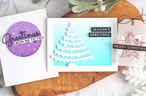 The Glimmering Christmas Project Kit by Spellbinders | with Michelle Short | Video tutorial #Spellbinders #NeverStopMaking #DieCutting #Cardmaking #ChristmasCardmaking #GlimmerHotFoilSystem