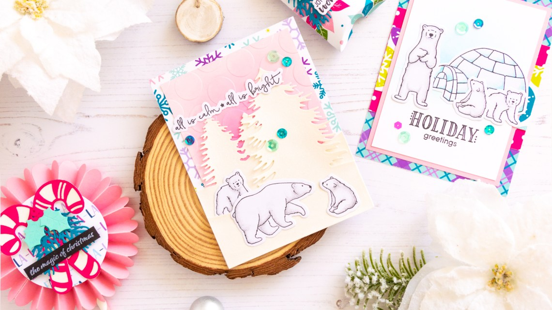The Joy and Wonder Project Kit by Spellbinders & FSJ   Cardmaking Inspiration with Laura Volpes   Video tutorial #Spellbinders #NeverStopMaking #DieCutting #Cardmaking #ChristmasCardmaking