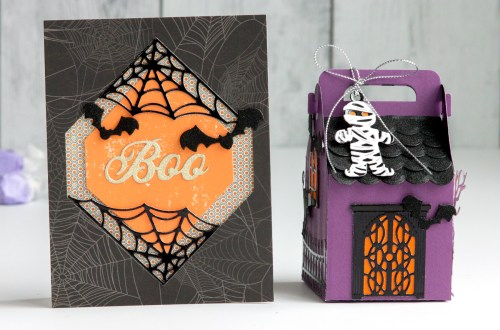 Spellbinders Halloween Collection by Becca Feeken - Project Inspiration with Jean Manis #Spellbinders #NeverStopmaking #Cardmaking #HalloweenCardmaking