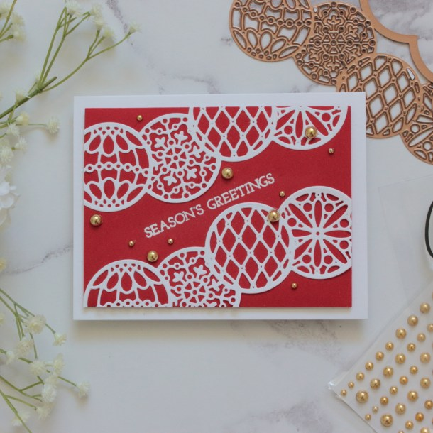 The Warm Holiday Wishes Project Kit by Spellbinders   Cardmaking Inspiration with Amanda Korotkova   Video Tutorial #Spellbinders #NeverStopMaking #DieCutting #Cardmaking #ChristmasCardmaking
