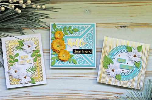 Spellbinders Becca Feeken Picot Petite Collection - Cardmaking Inspiration with Sandi MacIver #Spellbinders #NeverStopMaking #AmazingPaperGrace #DieCutting #Cardmaking