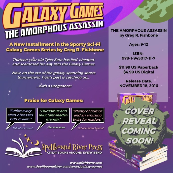 Galaxy Games: The Amorphous Assassin release date November 18, 2016.