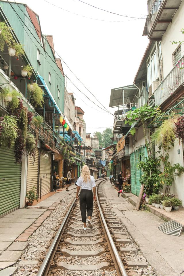 spellbound travels train street hanoi
