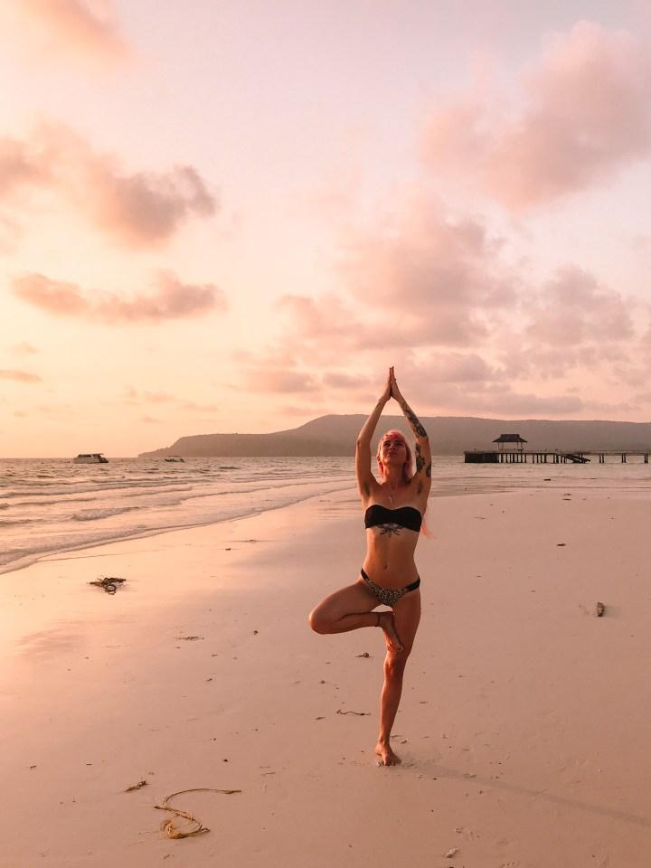 spellbound travels cambodia beach yoga