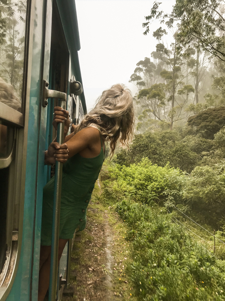 spellbound travels girl on train in sri lanka