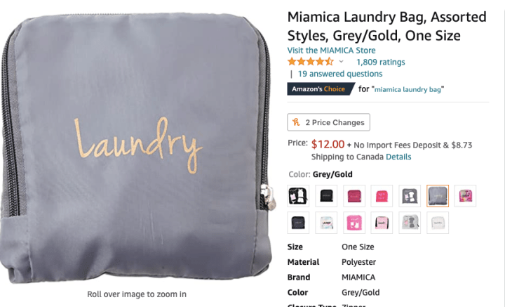 spellbound travels travel laundry bag